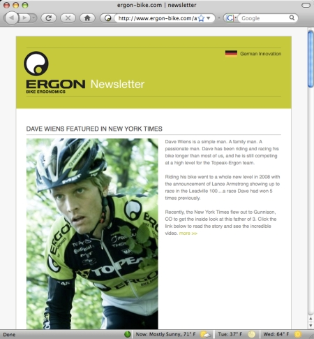 Ergon Newsletter