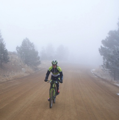 Jeff Kerkove training outside Boulder, CO