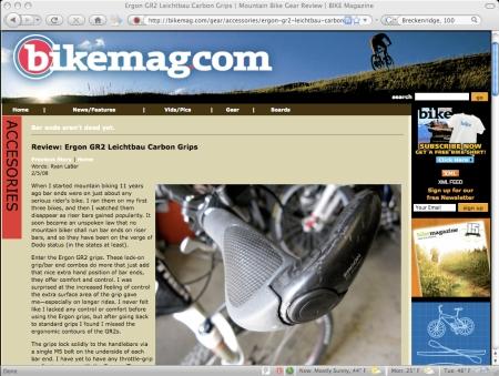 GR2 SL on Bike Mag